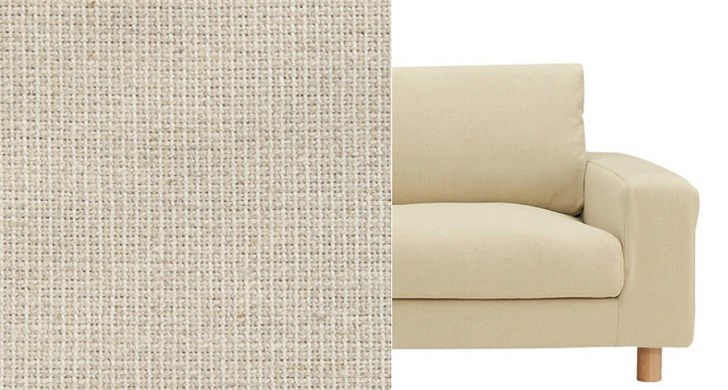 麻綿平織りのカバー生地